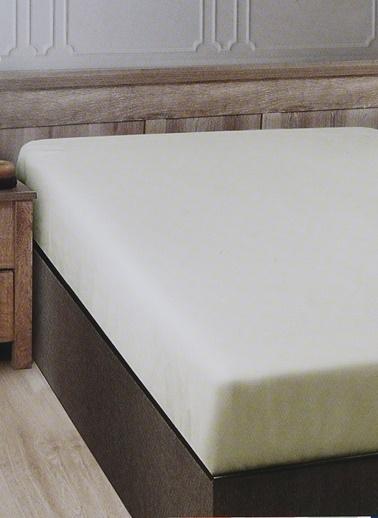Boyner Evde Boyner Evde 160 x 240 cm Tek Kişilik Ekru Düz Çarşaf Ekru